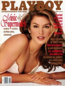 Cindy Crawford on the cover of Playboy
